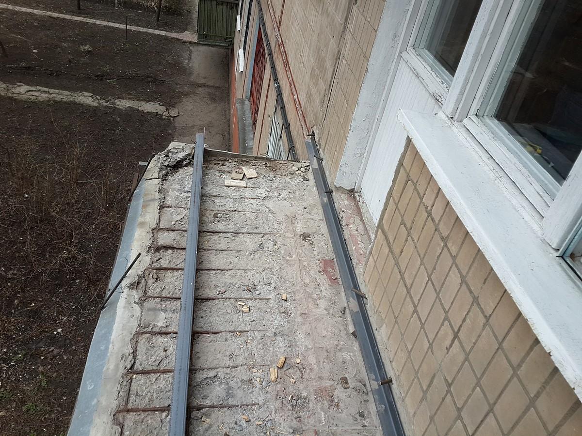Восстановление балкона (до)