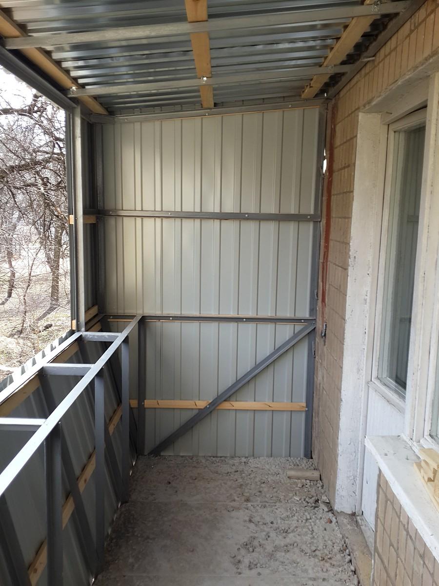 Восстановление балкона (после)