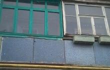 Остекление балкона ПВХ окнами (до)