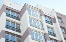 Балконы высотный дом в Харькове - после