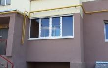 Балкон под ключ без обшивки извне