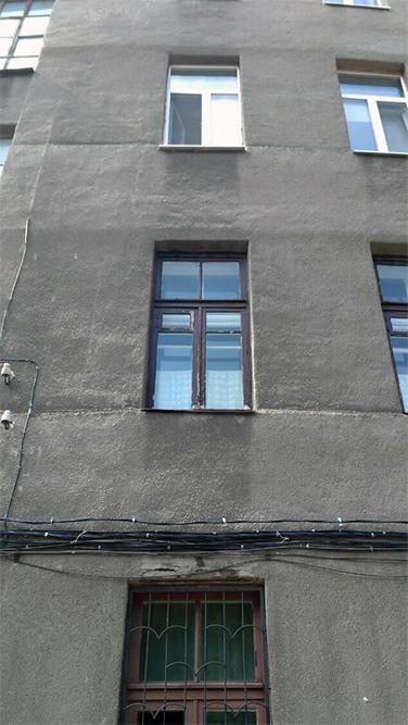 Окно в сталинке (до демонтажа)