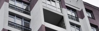 Балконы высотный дом в Харькове - до
