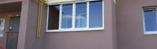 Остекление балкона, пример работ