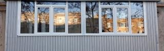 Обшивка балкона, ремонт балкона и его остекление  в Харькове