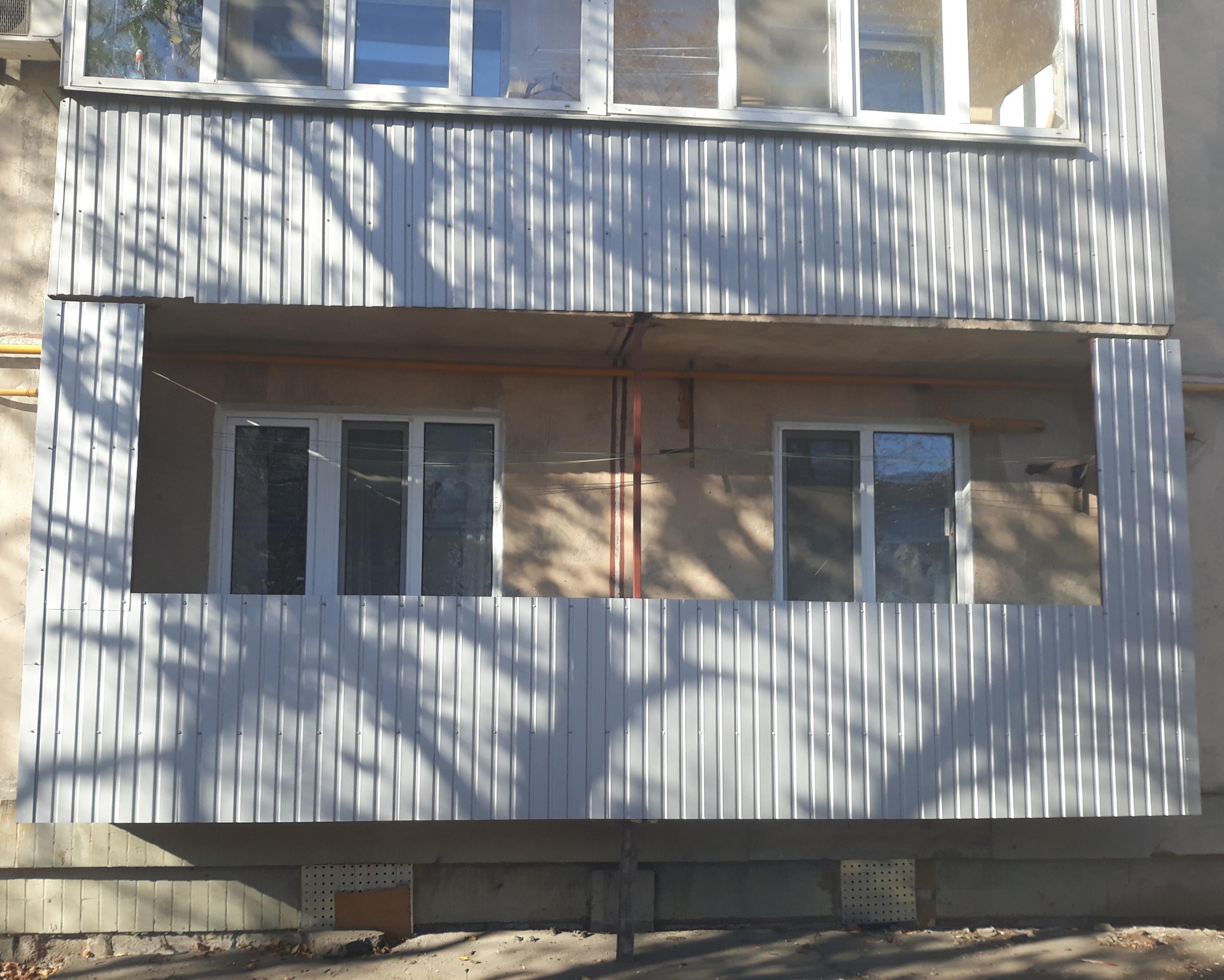 Обшивка балкона и ремонт балкона